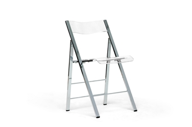Baxton Studio Acrylic Foldable Chair Acrylic Foldable Chair , BSFAY-506-Clear, Baxton Studio Affordable Modern Design