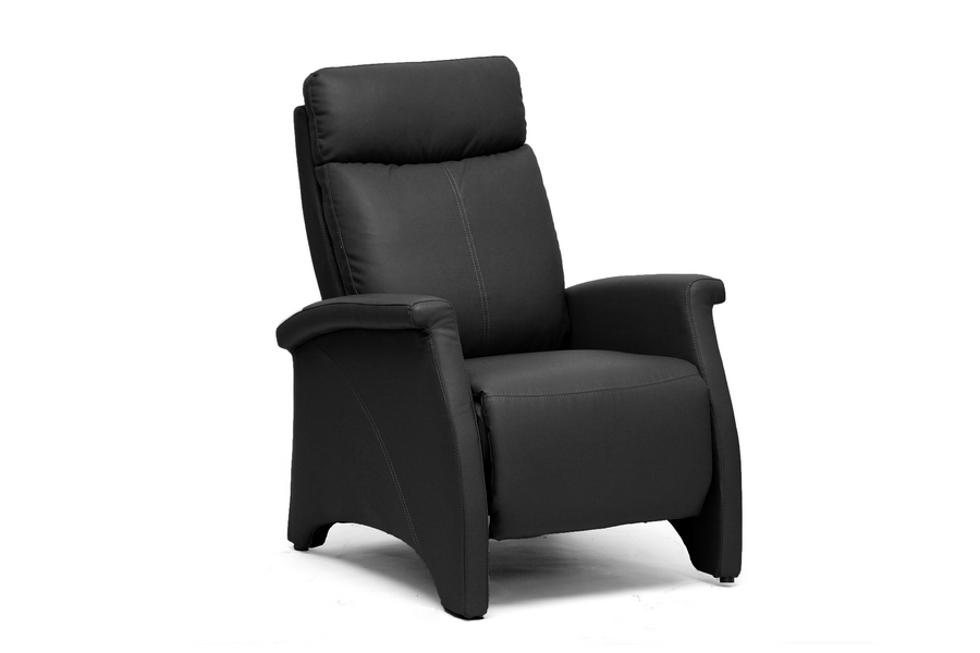 Baxton Studio Sequim Black Modern Recliner Club Chair Baxton Studio Sequim Black Modern Recliner Club Chair, Baxton Studio Affordable Modern Furniture