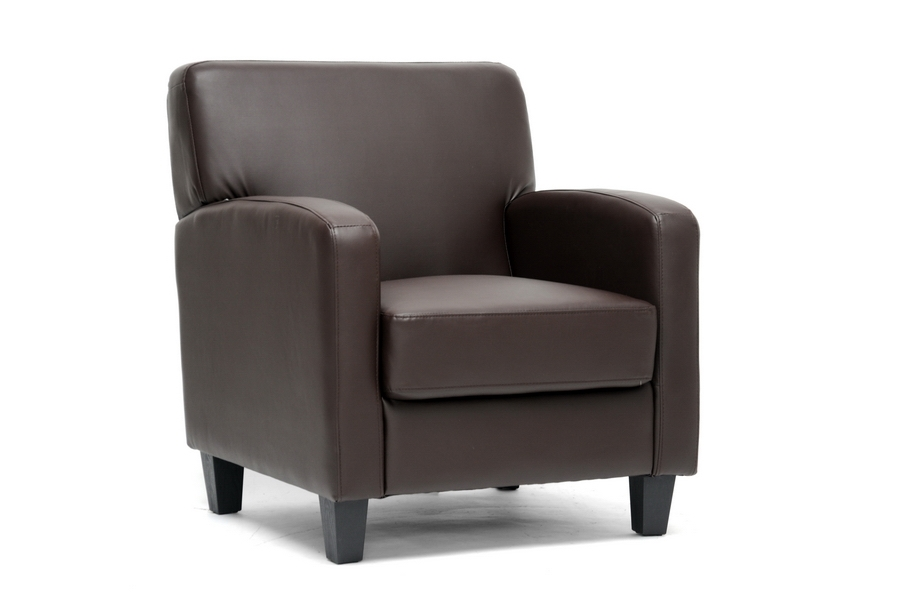 Baxton Studio Stacie Brown Modern Club Chair Stacie Brown Modern Club Chair, BSA-150-206 chair, Baxton Studio Affordable Modern Design