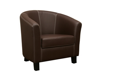 Baxton Studio Elijah Dark Brown Faux Leather Modern Club Chair Elijah Dark Brown Faux Leather Modern Club Chair, BSJ-018-Dark Brown, Baxton Studio Affordable Modern Design