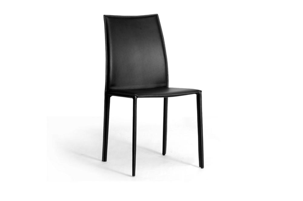 Fabulous Rockford Black Leather Dining Chairs With Black Leather Legs Creativecarmelina Interior Chair Design Creativecarmelinacom
