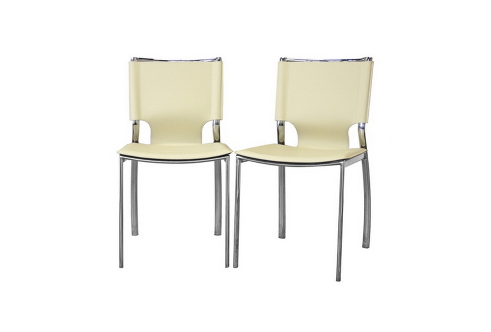 Fantastic Montclare Ivory Leather Modern Dining Chair Affordable Creativecarmelina Interior Chair Design Creativecarmelinacom
