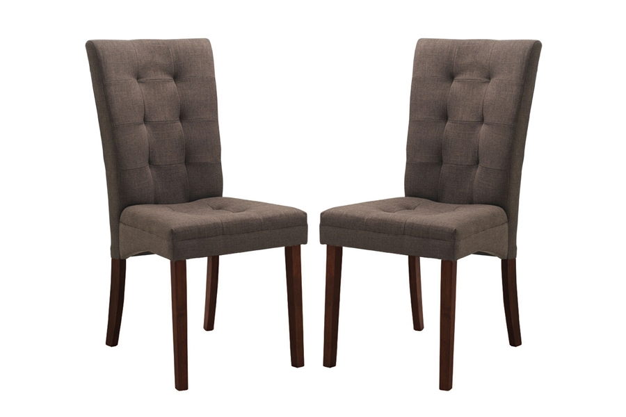 Baxton Studio Anne Brown Fabric Modern Dining Chair (Set Of 2) Baxton Studio  Anne