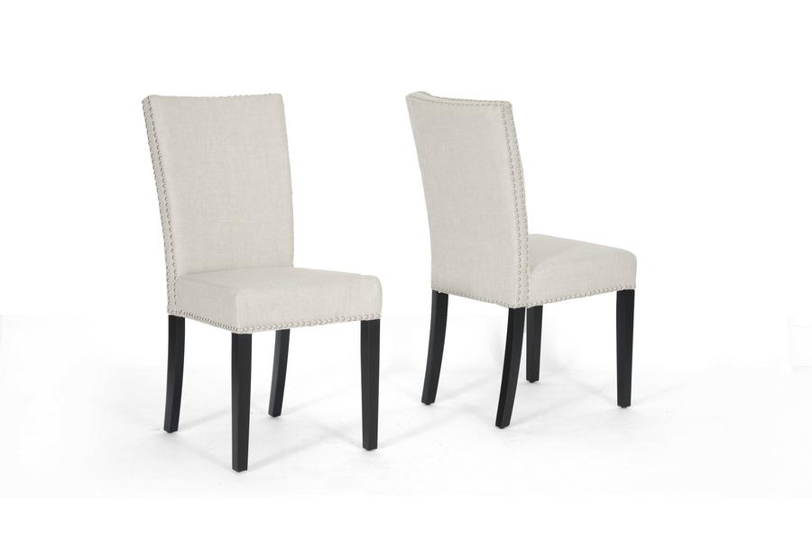 Stupendous Harrowgate Beige Linen Modern Dining Chair Affordable Creativecarmelina Interior Chair Design Creativecarmelinacom