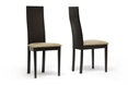 Sparrow Brown Wood Modern Dining Chair Set Of 2