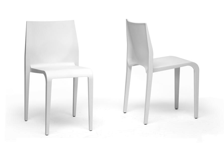 Terrific Baxton Studio Blanche Modern White Molded Plastic Dining Creativecarmelina Interior Chair Design Creativecarmelinacom