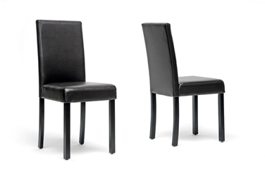 Baxton Studio Adele Dark Brown Modern Dining Chair Set Of 2