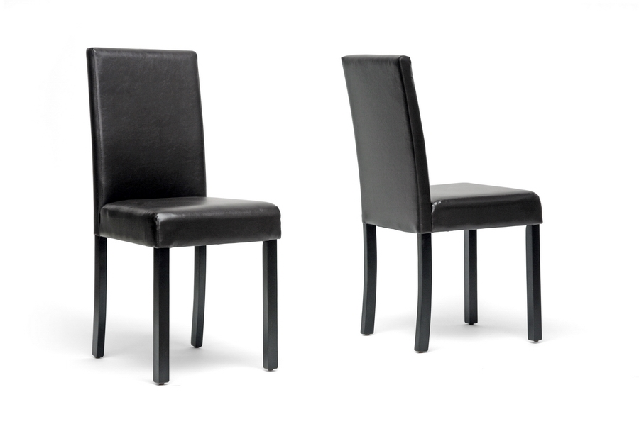 baxton studio adele dark brown modern dining chair set of 2 baxton studio adele
