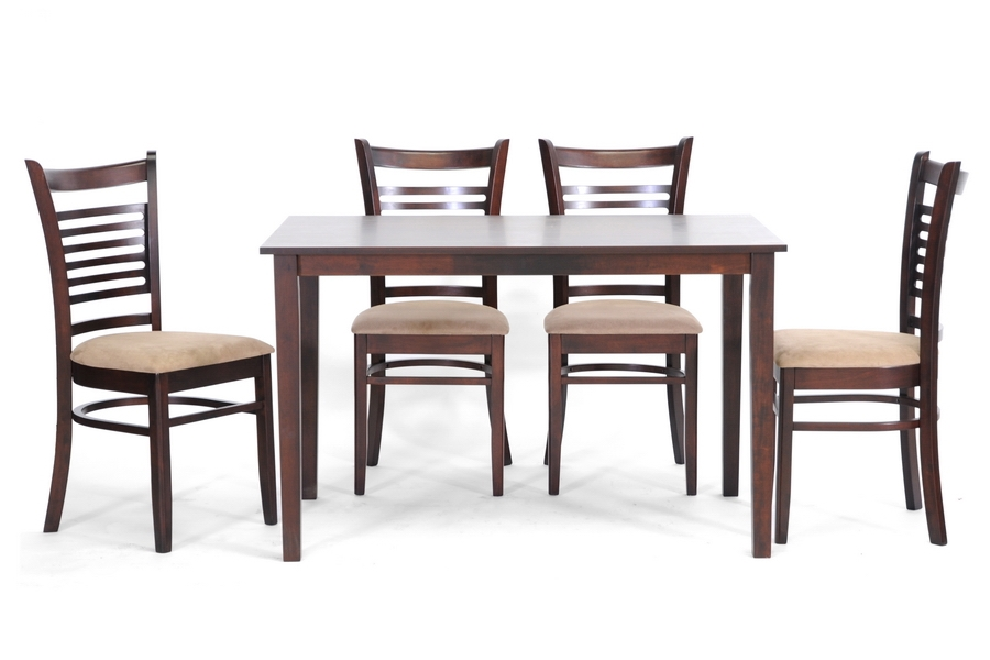 Cathy Brown Wood Modern 5 Piece Dining Set | Affordable Modern Design |  Baxton Studio