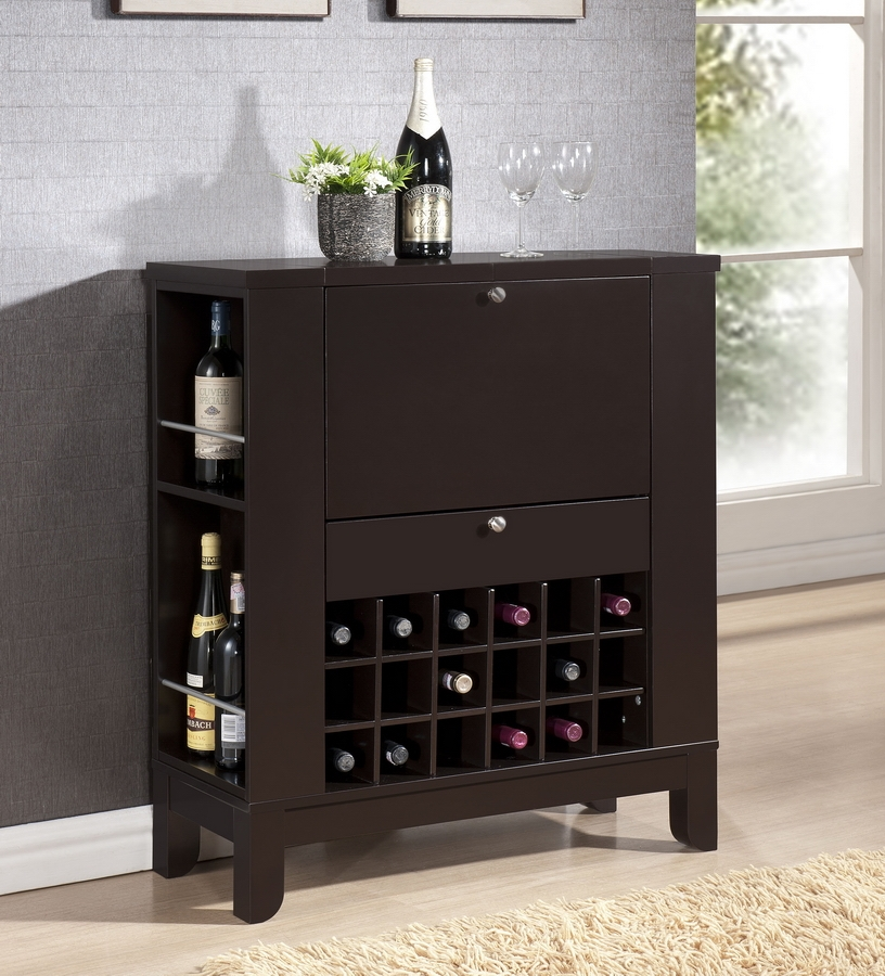 Modesto Brown Modern Dry Bar and Wine Cabinet | Affordable Modern ...