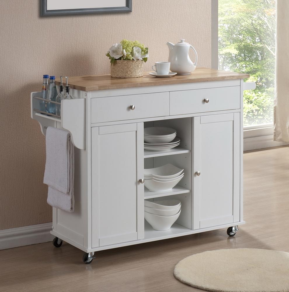 Meryland White Modern Kitchen Island Cart | Affordable Modern Design ...