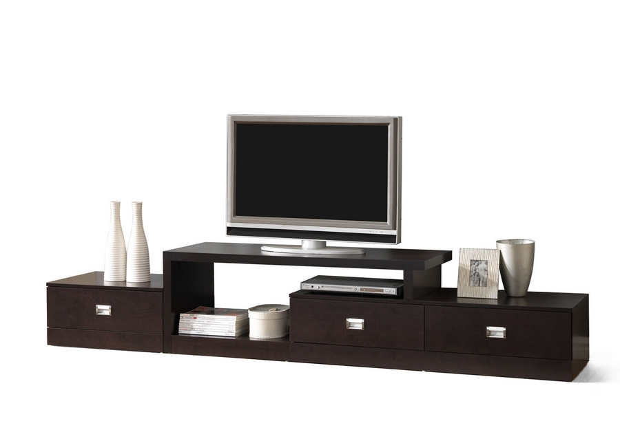 Marconi Brown Asymmetrical Modern Tv Stand Affordable Modern