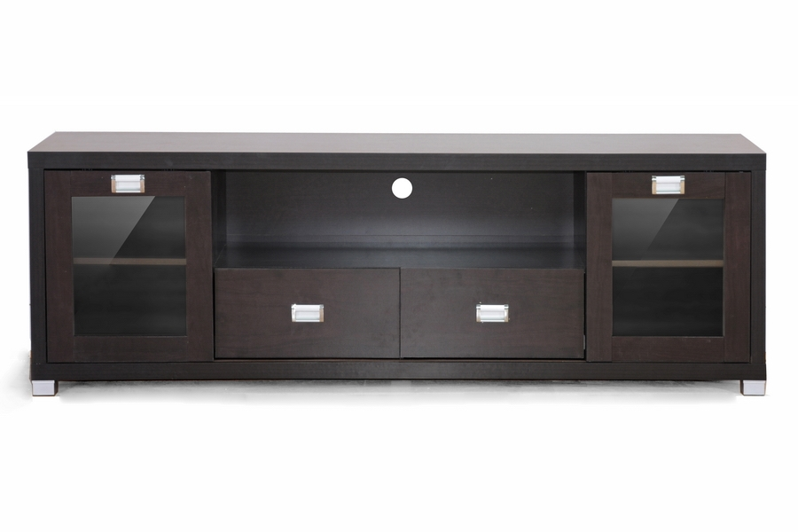Baxton Studio Gosford Brown Wood Modern Tv Stand Affordable Modern