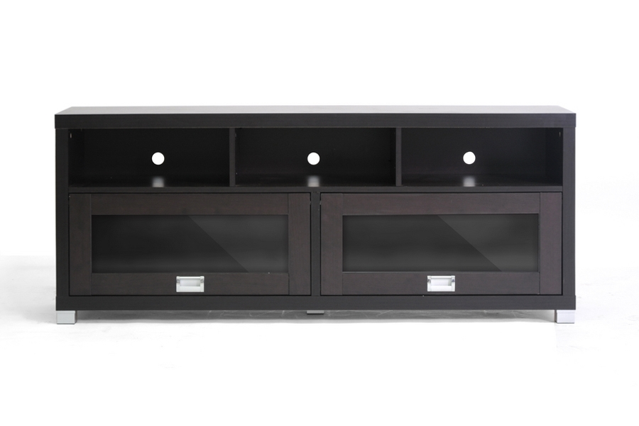 Swindon Modern Tv Stand With Glass Doors Affordable Modern Design