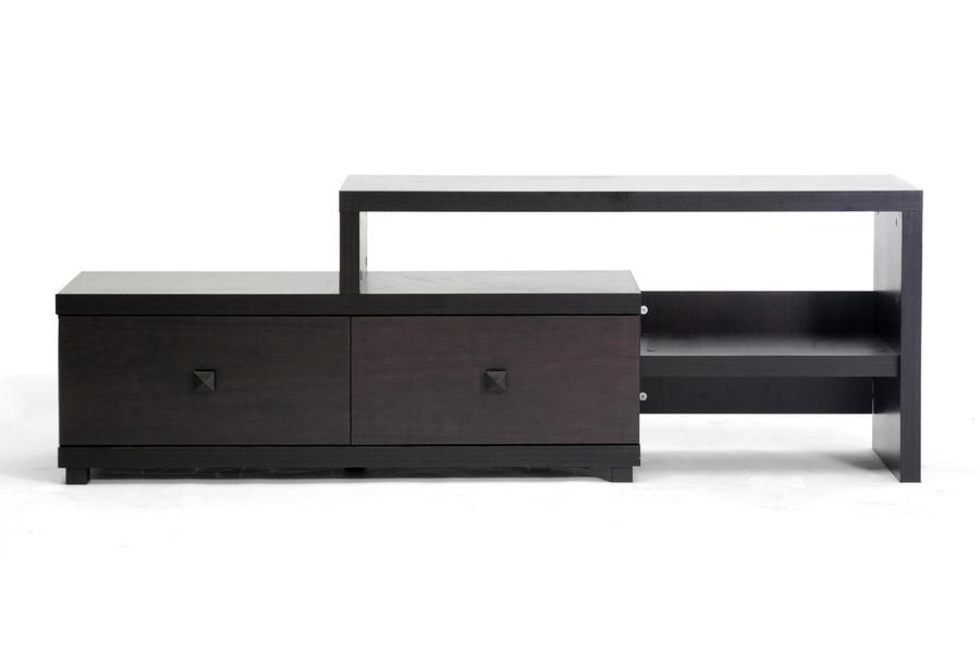 furniture affordable modern. Baxton Studio Blythe Modern Asymmetrical TV Stand Stand, BSV-2DWTV Furniture Affordable