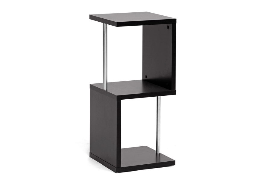 Baxton Studio Lindy Dark Brown Modern Display Shelf (2-Tier) Baxton Studio Lindy Dark Brown Modern Display Shelf (2-Tier), BSFP-2Tier-Display, Baxton Studio Affordable Modern Design