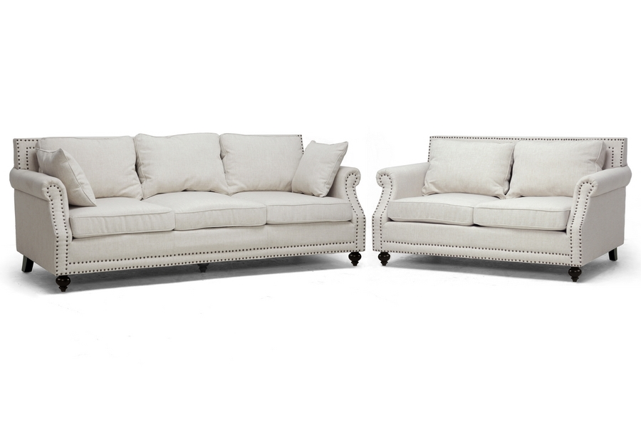 Baxton Studio Mckenna Beige Linen Modern Sofa Set | Affordable Modern  Furniture In Chicago