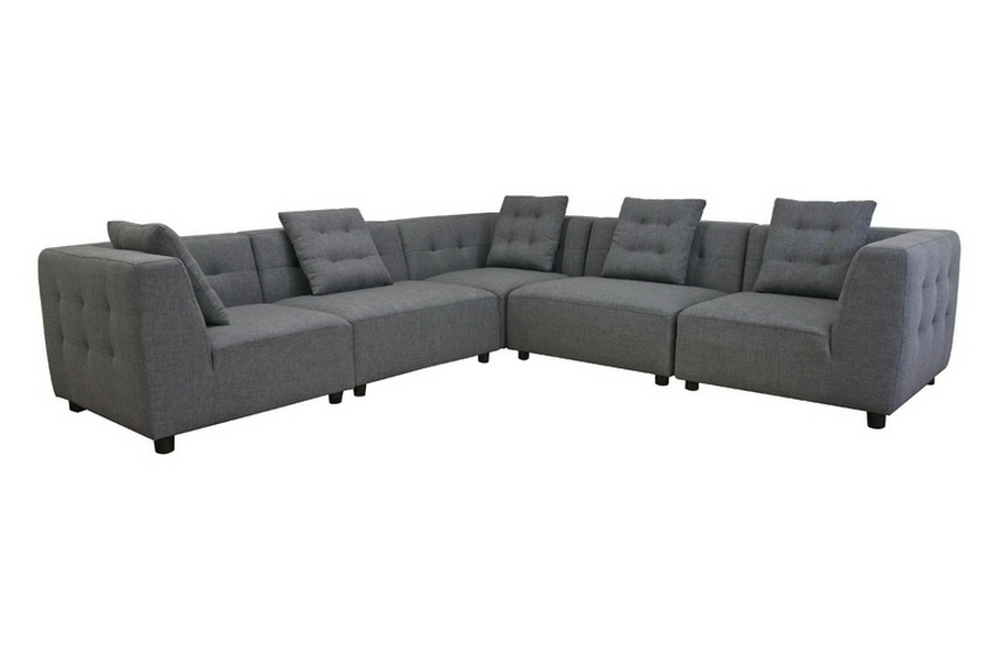 Alcoa Gray Fabric Modular Modern Sectional Sofa   Affordable Modern  Furniture In Chicago