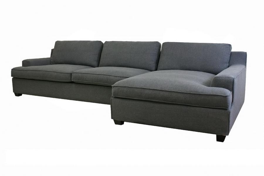 Kaspar Slate Gray Fabric Modern Sectional Sofa   Affordable Modern  Furniture In Chicago