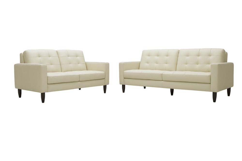 Caledonia Cream Leather Modern Sofa Set   Affordable Modern Furniture in  Chicago. Caledonia Cream Leather Modern Sofa Set   Affordable Modern