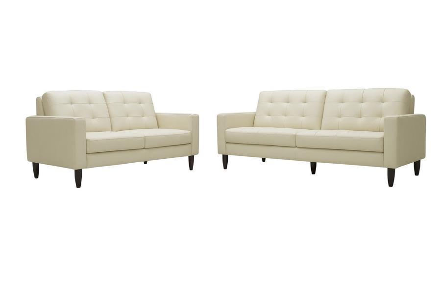 caledonia cream leather modern sofa set affordable modern furniture in chicago