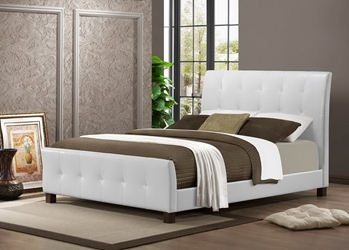 Baxton Studio Amara White Modern Bed - Full Size Baxton Studio Amara White Modern Bed - Full Size, BSIDB049-White-Full, Baxton Studio Affordable Modern Design