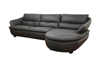 Bailey Black Leather Sectional Sofa