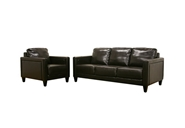 Arianna Dark Brown Leather Sofa and Chair Set