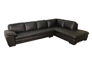 Baxton Studio Black Sofa/Chaise Sectional Black Sofa/Chaise Sectional, BS625-M9812-Sofa/lying, Baxton Studio Affordable Modern Design