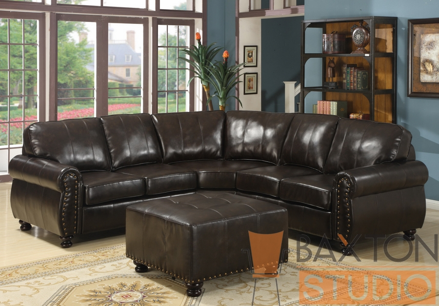 Baxton Studio Hammond Brown Leather Modern Sectional Sofa Baxton Studio Hammond Brown Leather Modern Sectional Sofa, Baxton Studio Affordable Modern Furniture