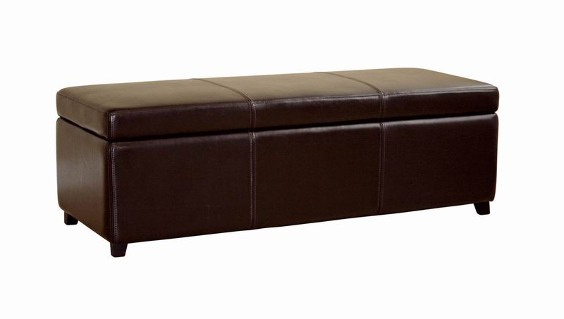 Baxton Studio Monroe Brown Leather Large Storage Bench Ottoman with Wood Feet  sc 1 st  Baxton Studio & Monroe Brown Leather Large Storage Bench Ottoman with Wood Feet ...