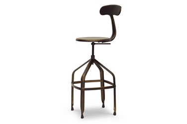 Baxton Studio Architects Industrial Bar Stool with Backrest in Antiqued Copper Architects Industrial Bar Stool with Backrest in Antiqued Copper, BSM-94137X-30AC-BS, Baxton Studio Affordable Modern Design