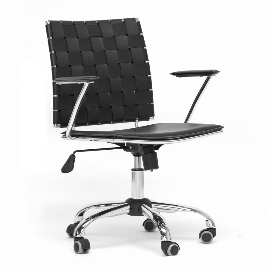 baxton studio vittoria black leather modern office chair baxton studio vittoria black leather modern office chair