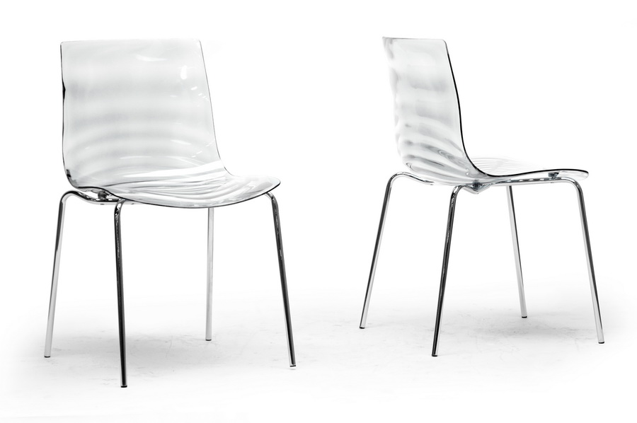 Marisse Clear Plastic Modern Dining Chair (Set of 2) | Affordable Modern Design | Baxton Studio  sc 1 st  Baxton Studio : baxton chair - Cheerinfomania.Com