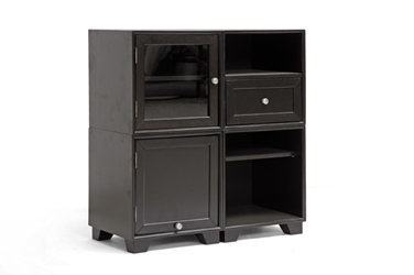 Baxton Studio Alaska Dark Brown Modular Storage Cabinet Baxton Studio Alaska Dark Brown Modular Storage Cabinet, RT244-OCC, Baxton Studio Affordable Modern Design