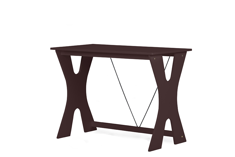 Baxton Studio Cary Contemporary Dark Brown Wenge Writing Desk And Chair Setone 1 One Affordable Modern Design