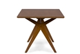 "Baxton Studio Lucas Mid-Century Style ""Walnut"" Brown  Dining TableOne (1) Dining Table Dining Room Furniture/Dining Table/Modern Wooden Table/Wooden Dining Table/Brown"