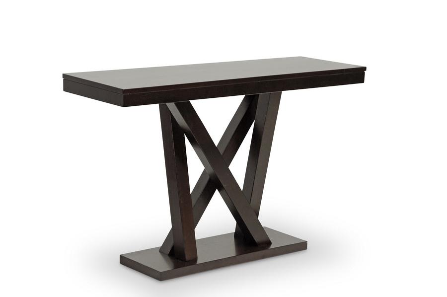 everdon dark brown modern sofa table | affordable modern design