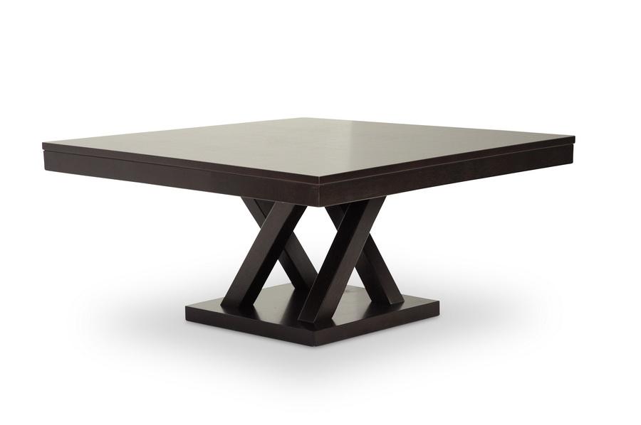 Baxton Studio Everdon Dark Brown Modern Coffee Table