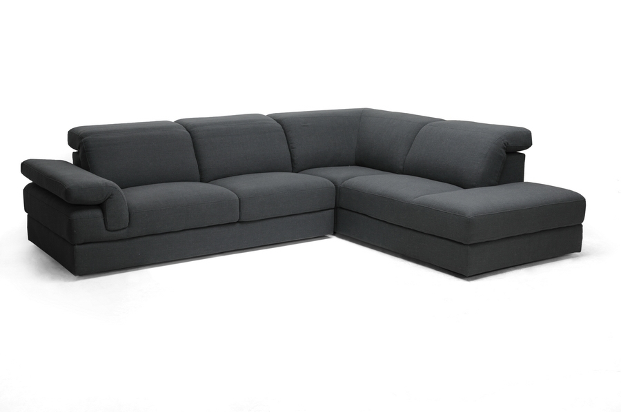Baxton Studio Liesel Dark Gray Modern Sectional Sofa Baxton Studio Liesel Dark Gray Modern Sectional Sofa, TD2911-AD066-3-SECTNL, Baxton Studio Affordable Modern Design