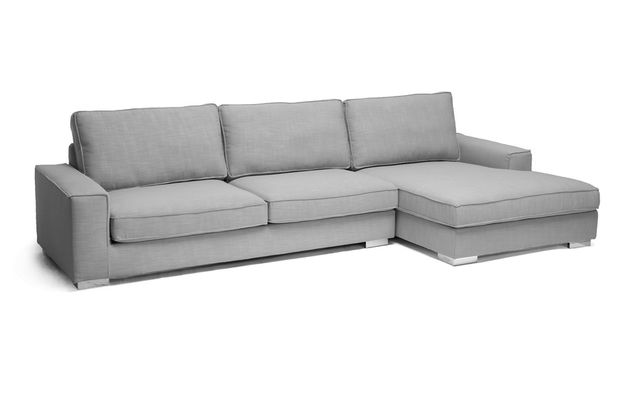Baxton Studio Brigitte Gray Modern Sectional Sofa Baxton Studio Brigitte Gray Modern Sectional Sofa, TD2912-12588-5A-SECTNL, Baxton Studio Affordable Modern Design