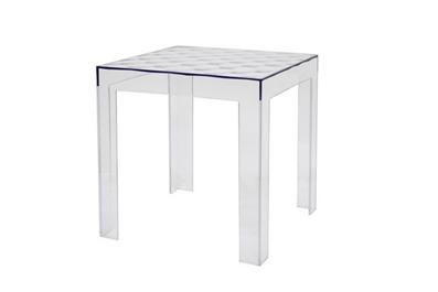 Parq Clear Acrylic Modern End Table Affordable Modern Design Baxton Studio