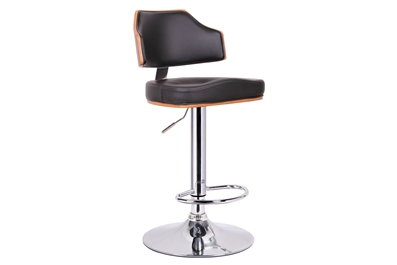 Cabell Walnut And Black Modern Bar Stool Affordable