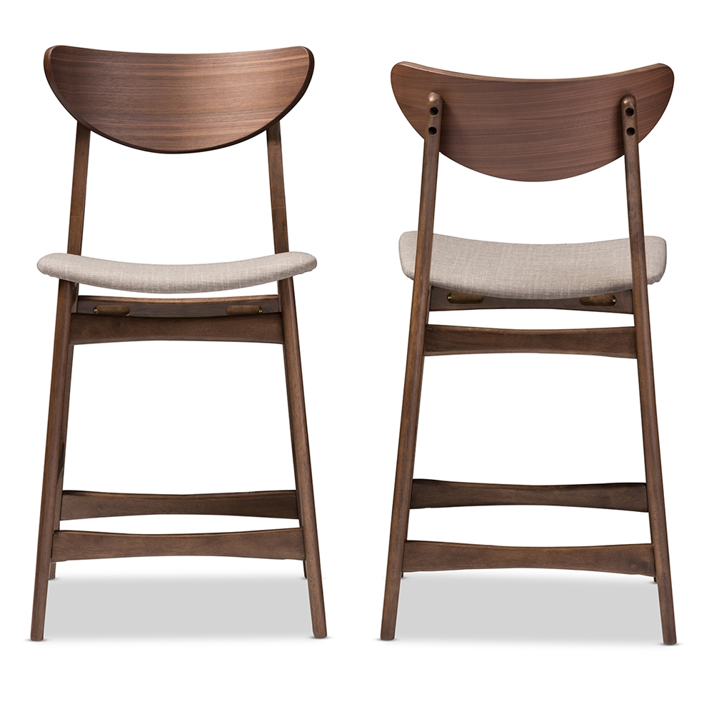 Baxton Studio Modern Bar Stool Set Of 2