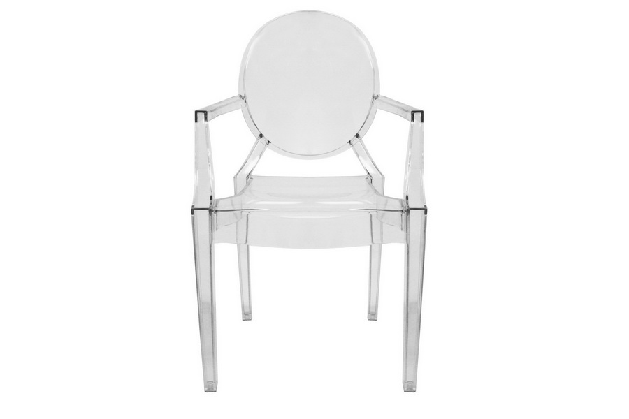 Ghost Chair Armed Clear Acrylic